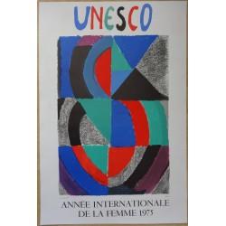 Sonia DELAUNAY - Lithograph : Annee internationale de la femme 1975