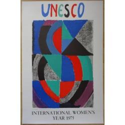 Sonia DELAUNAY - Lithograph : International women's year 1975
