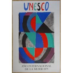 Sonia DELAUNAY - Lithograph : Ano internacional de la mujer  1975