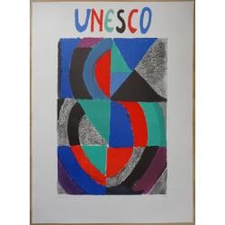 Sonia DELAUNAY - Lithograph : UNESCO 1975