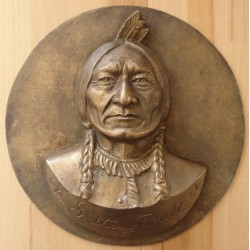 Gilbert POILLERAT : Sculpture - Sitting Bull