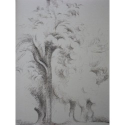 André LHOTE - Signed drawing : Trees