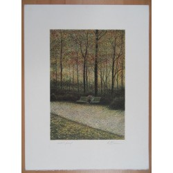 Harold ALTMAN - Lithograph : Central Park - The Lovers