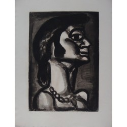 Georges ROUAULT - Etching (Miserere) - In the mouth that was once fresh