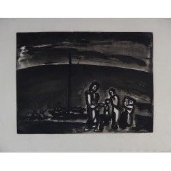 Georges ROUAULT - Etching (Miserere) - Sometimes the way is beautiful