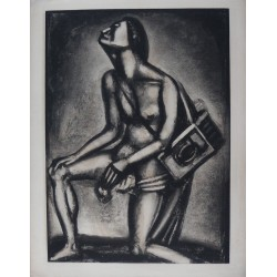 Georges ROUAULT - Etching (Miserere) : Life is full of tears