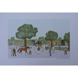 Vincent HADDELSEY - Lithograph : After the race