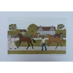 Vincent HADDELSEY - Lithograph : The Yearlings