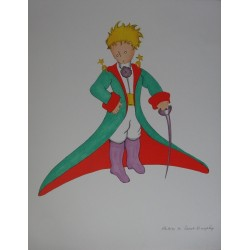 Antoine de Saint Exupéry - Lithograph : Little Prince with jacket