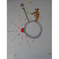 SAINT EXUPERY - Lithograph : The lamplighter