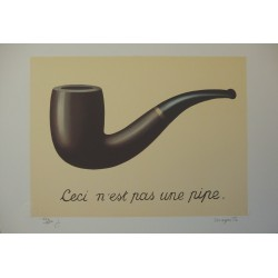 René Magritte - La Trahison des Images (Ceci n'est pas une pipe), Lithograph