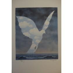 René Magritte - lithograph : La Grande Famille