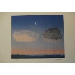 René Magritte - lithograph : La Bataille de l'Argonne