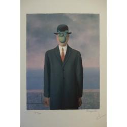 René Magritte - lithograph : Le Fils de l'Homme