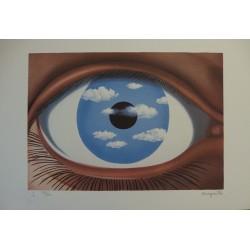 René Magritte - lithograph : Le Faux Miroir