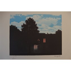 René Magritte - lithograph : L'Empire des Lumieres