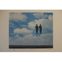 René Magritte - lithograph : La Reconnaissance Infinie