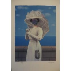 René Magritte - lithograph : La Grande Guerre