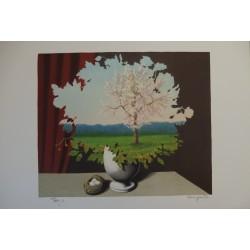 René Magritte - lithograph : Le Plagiat