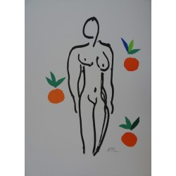 Henri Matisse : Nude with Oranges - Lithograph