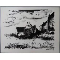 Maurice de VLAMINCK : Potinière House in Rueil - Original lithograph