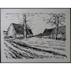 Maurice de VLAMINCK : Les Challonges,  Original lithograph